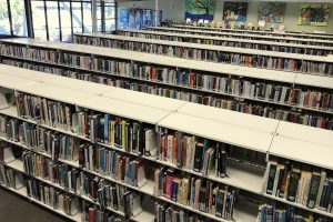 Avalon library book shelves