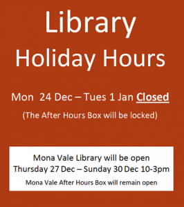 Library Hours dec 2018