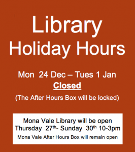 avalon commuity library holiday hours
