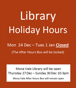 christmas 2018 opening hours for the library