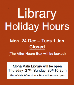 avalon library holiday hours