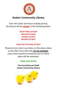 Easter-holiday-opening-hours-avalon-library